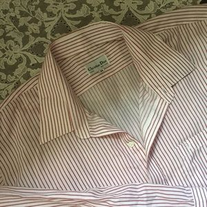 Vintage Christian Dior Striped Button Up